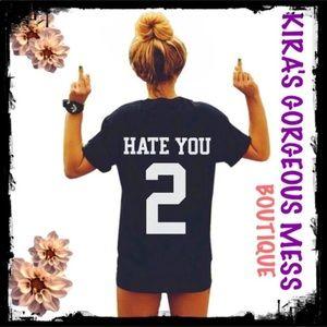 "Tops - ☠️🍭☠️BNWT☠️🍭☠️ ""HATE U 2"" TEE ☠️🍭☠️ MEDIUM ONLY"